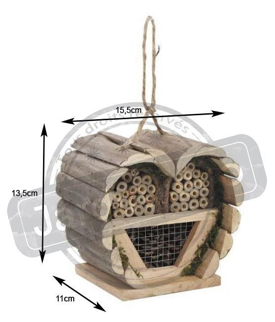 maison insectes coeur en bois. Black Bedroom Furniture Sets. Home Design Ideas