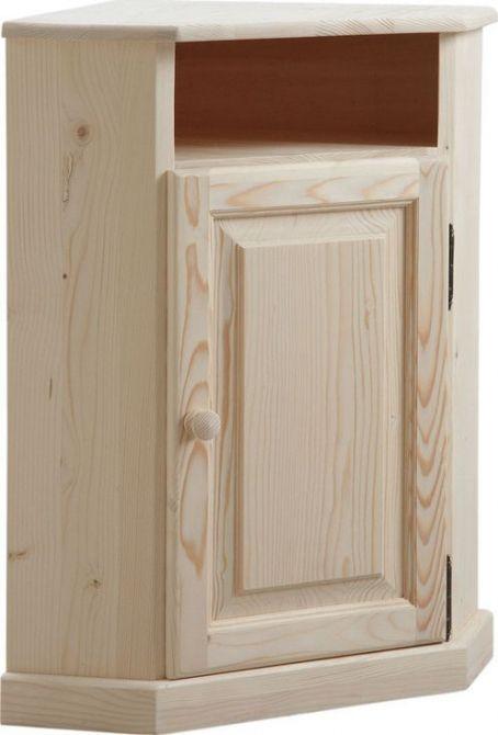 Petit meuble d 39 angle en bois brut petits meubles d 39 angle for Petit meuble a tiroirs en bois brut