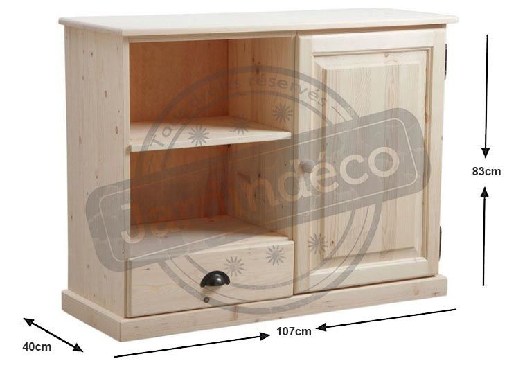 Meuble tv en bois brut aub 0367