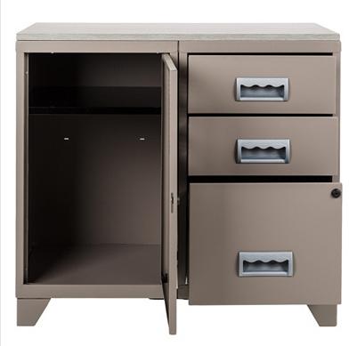 meuble bureau mtal 1 porte 3 tiroirs pierre henry