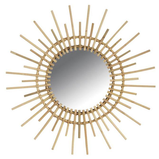 miroir rotin vintage soleil. Black Bedroom Furniture Sets. Home Design Ideas
