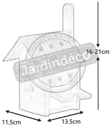 nichoir oiseau bois et zinc nichoire oiseaux sur. Black Bedroom Furniture Sets. Home Design Ideas