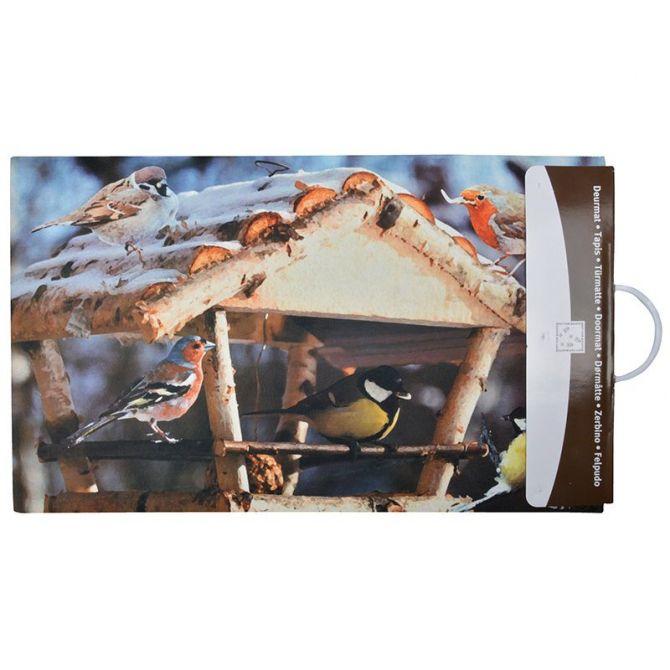 paillasson d co en caoutchouc recycl int rieur ext rieur mangeoire oiseaux. Black Bedroom Furniture Sets. Home Design Ideas