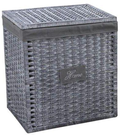 panier linge home avec couvercle grand mod le. Black Bedroom Furniture Sets. Home Design Ideas