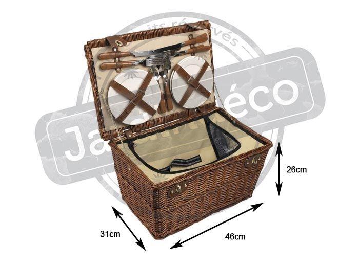 panier pique nique isotherme 4 couverts en osier. Black Bedroom Furniture Sets. Home Design Ideas