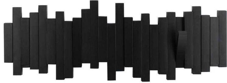 porte manteau design mural sticks noir. Black Bedroom Furniture Sets. Home Design Ideas