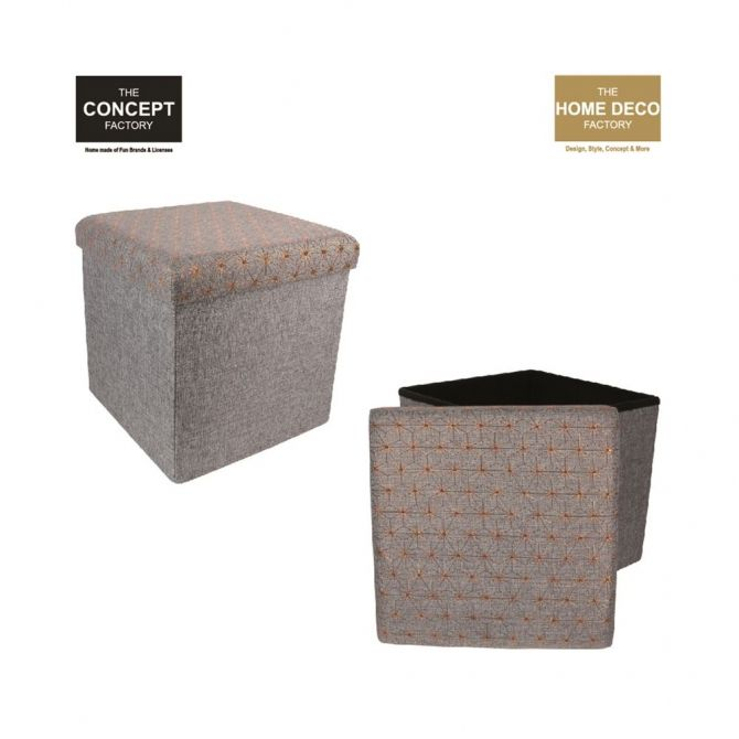 Pouf pliant en tissu Citations - THE CONCEPT FACTORY