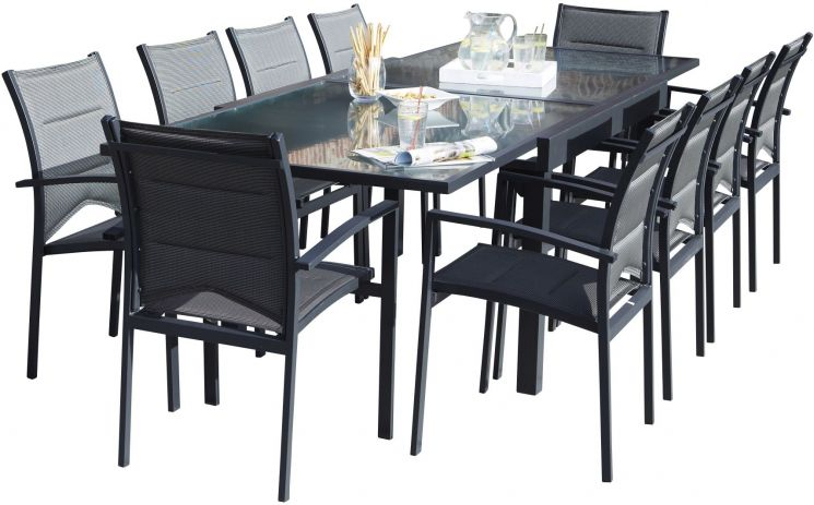 salon de jardin moderne 10 personnes modulo gris. Black Bedroom Furniture Sets. Home Design Ideas