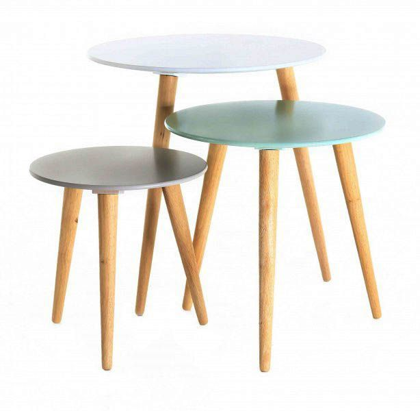 Tables gigognes colorées Stockholm (Lot de 3)