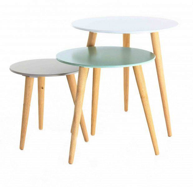 Tables gigognes colorées Stockholm (Lot de 3) - ZAGO