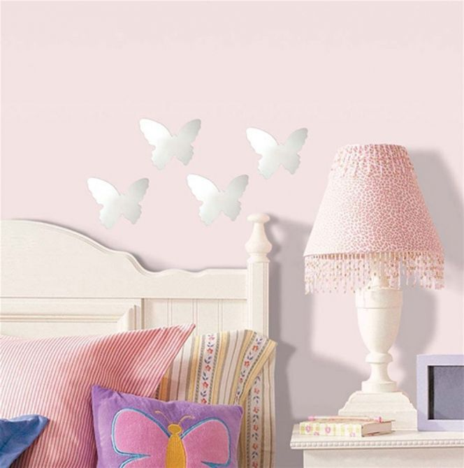 Sticker miroir Papillon (Lot de 4) - ROOMMATES