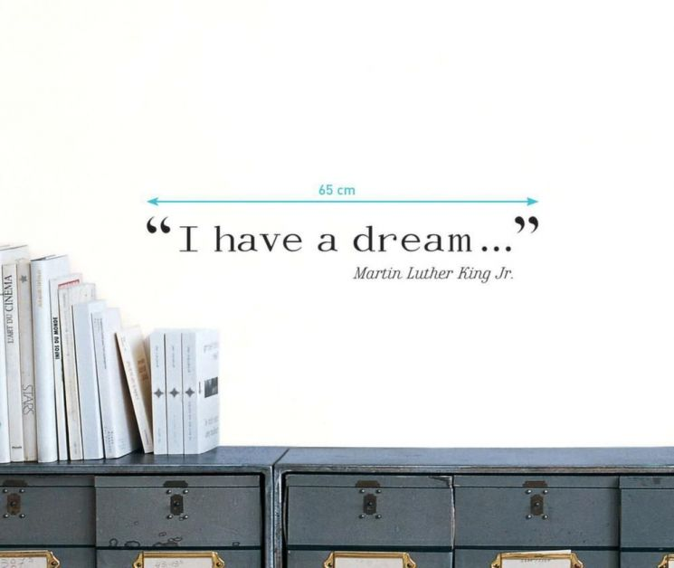Sticker mural citation I have a dream de Martin Luther King - 5