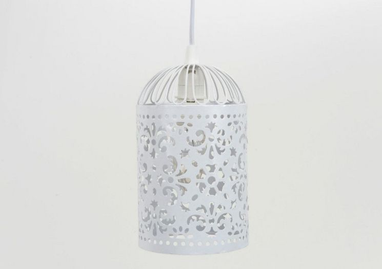 Suspension Moucharabieh blanc antique - AMADEUS