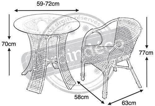 table et chaise de jardin aubry gaspard - Table Et Chaise Jardin