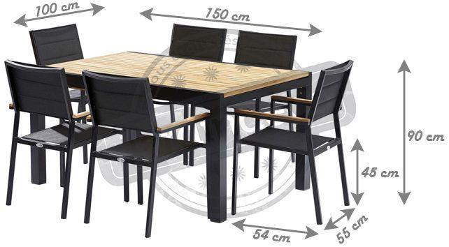 Table et chaises de jardin moderne bali 6 fauteuils - Table jardin moderne dijon ...