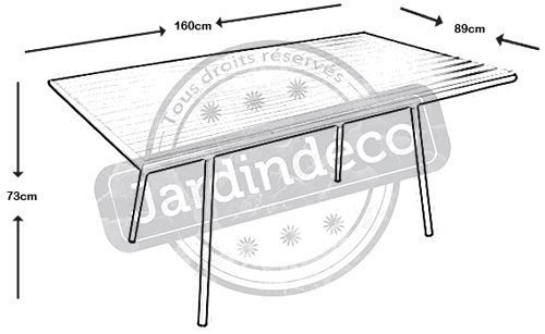 Table de jardin Menu 160cm - PRL-0225