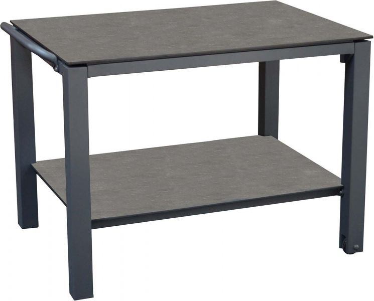 table plancha en aluminium 2 plateaux gris. Black Bedroom Furniture Sets. Home Design Ideas