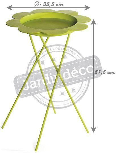 Table plante pliable flower vert - Table plante ...