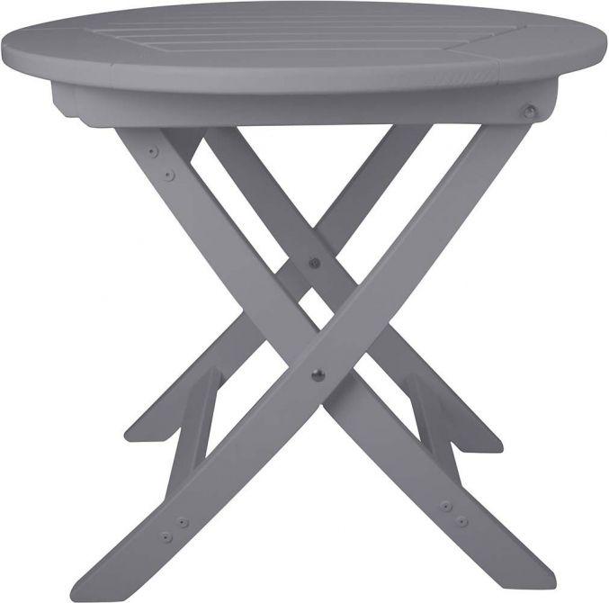 table pliante ronde en pin gris. Black Bedroom Furniture Sets. Home Design Ideas