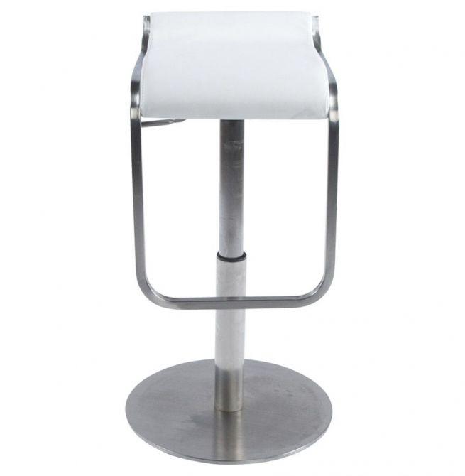 tabouret design avec repose pieds modena blanc. Black Bedroom Furniture Sets. Home Design Ideas
