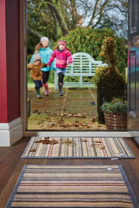 tapis en fibres naturelles rayures 65x150 cm stripe 26. Black Bedroom Furniture Sets. Home Design Ideas