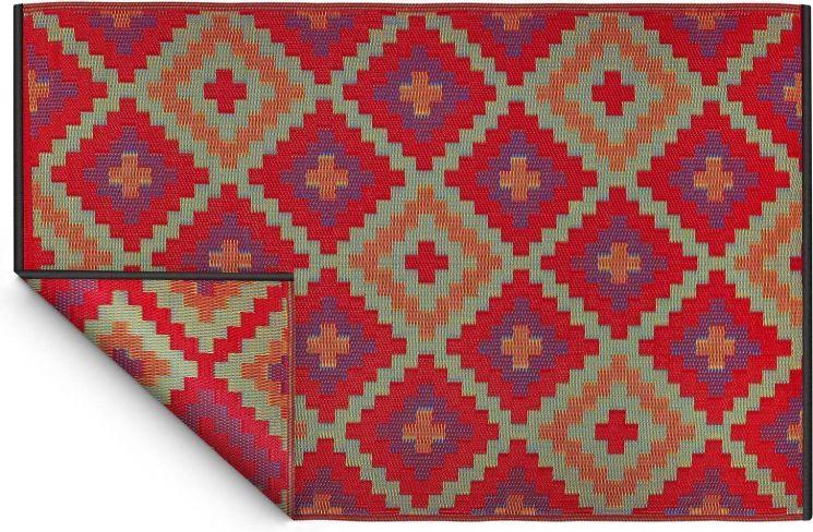 tapis int rieur ext rieur saman orange et violet 270 x 180 cm. Black Bedroom Furniture Sets. Home Design Ideas