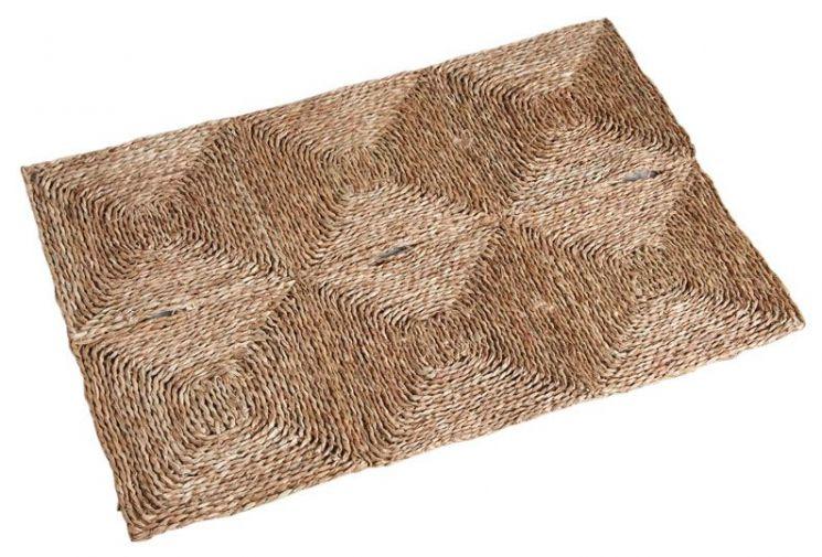 tapis rectangulaire en jonc 90 x 60 cm. Black Bedroom Furniture Sets. Home Design Ideas
