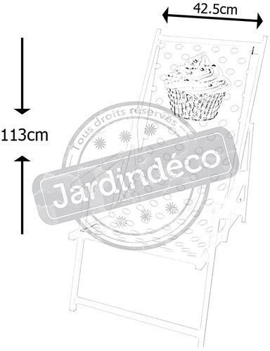 Toile Cupcake en polyester pour chilienne - HOU-0111