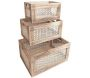 Caisse de rangement en bois Ethnical life (Lot de 3) - THE HOME DECO FACTORY