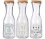 Carafe My Little Market 1 litre (Lot de 3)