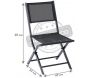 Chaise pliante Modulo (Lot de 2) - 5