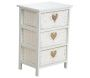 Commode blanche 3 tiroirs avec coeurs