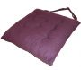 Galette de chaise en coton uni 40 cm 8 points - COTTON WOOD
