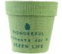 Pot de fleur jute plastifiée My Little Market (Lot de 3) - THE HOME DECO FACTORY