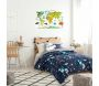 Sticker mural Mappemonde 90x60 cm - THE HOME DECO KIDS