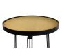 Table d'appoint métal plateau velours 45cm - THE HOME DECO FACTORY