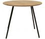Table ronde plateau en bois Phoenix 55 cm - THE HOME DECO FACTORY