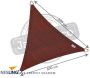 Voile d'ombrage triangulaire Coolfit terracotta - NES-0107