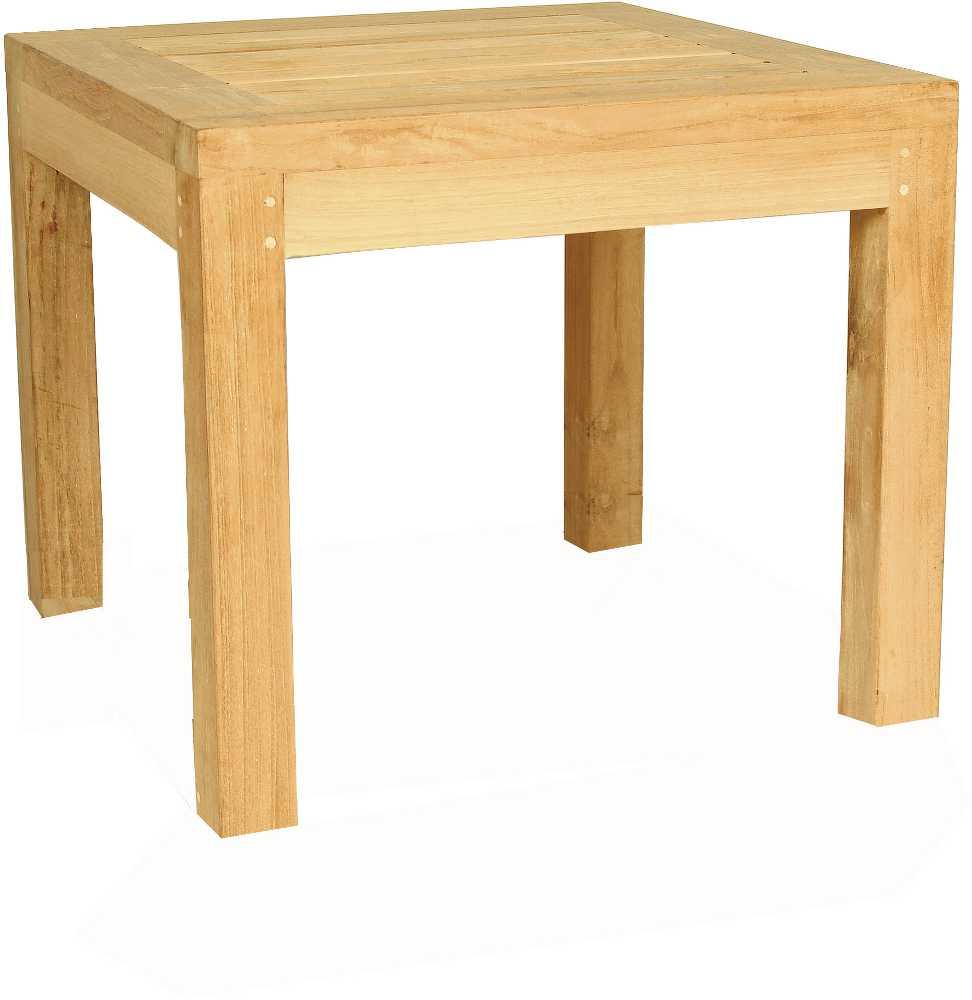 Table basse en Teck carr�e 50x50x36cm