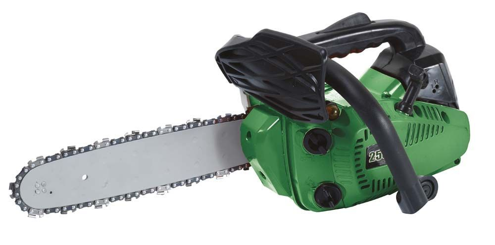 Tronçonneuse thermique 25,4cc vert et noir 300mm