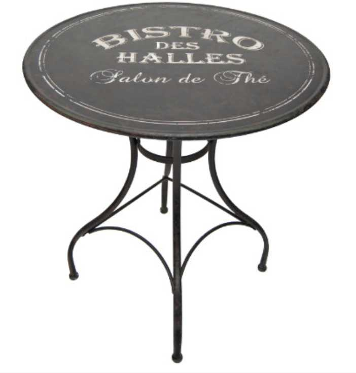 Table bistrot for Table de terrasse pas cher