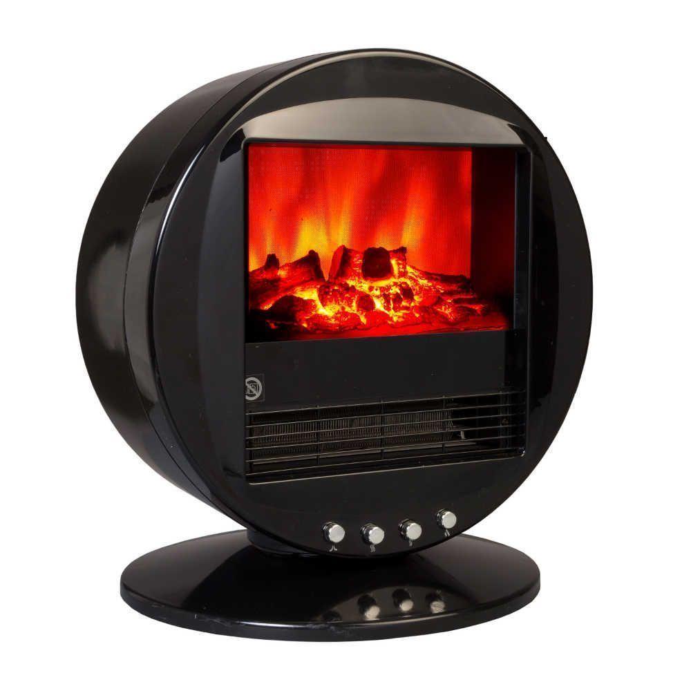 Cheminée design Fire Bowl Noire oscillante à 90° 40x30x38cm