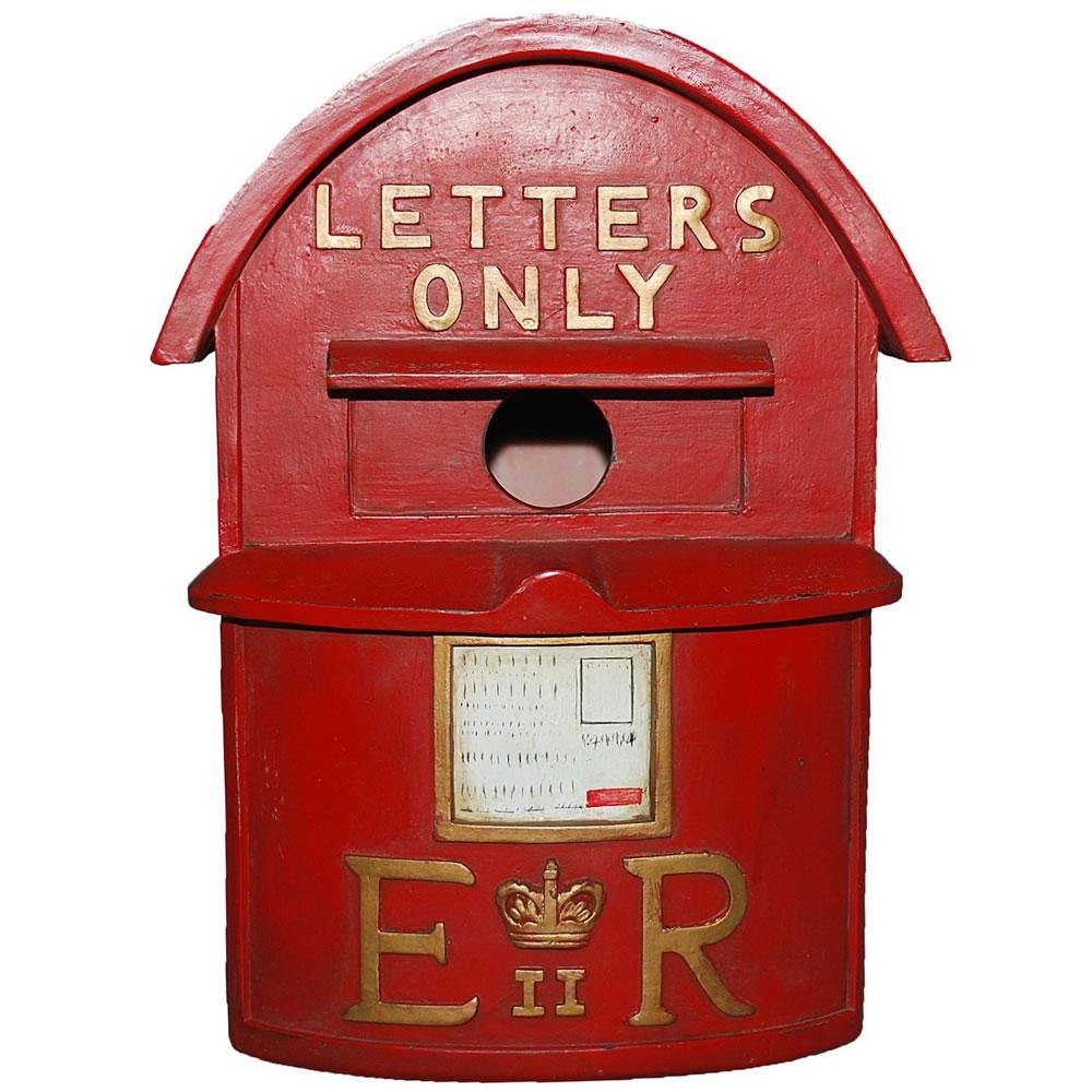 Nichoir boite à lettres britannique rouge