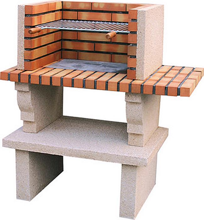 Barbecue en pierre reconstituée et brique Cartaxo