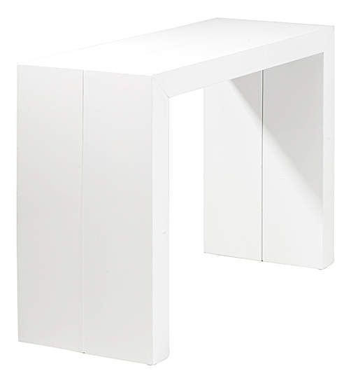 table console orianne blanche extensible 183x90x74,5cm