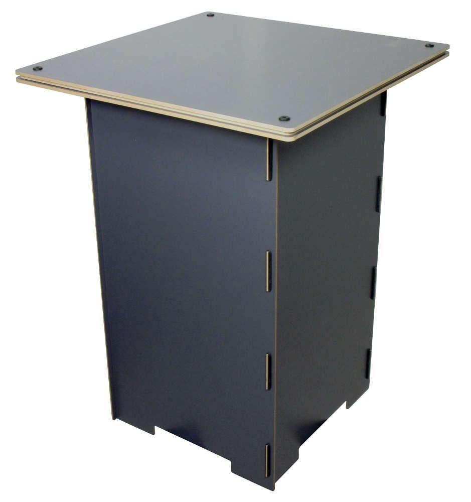 Table de jeu pour enfant en bois Grise en Bois 50x50x67cm