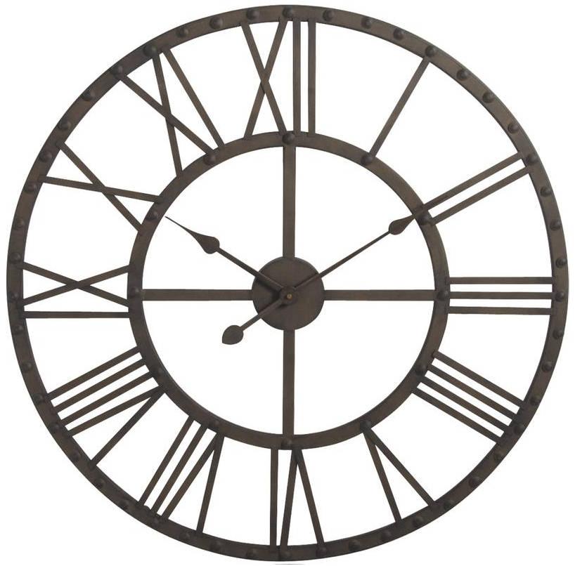 Horloge murale vintage m tal for Grosse pendule murale design