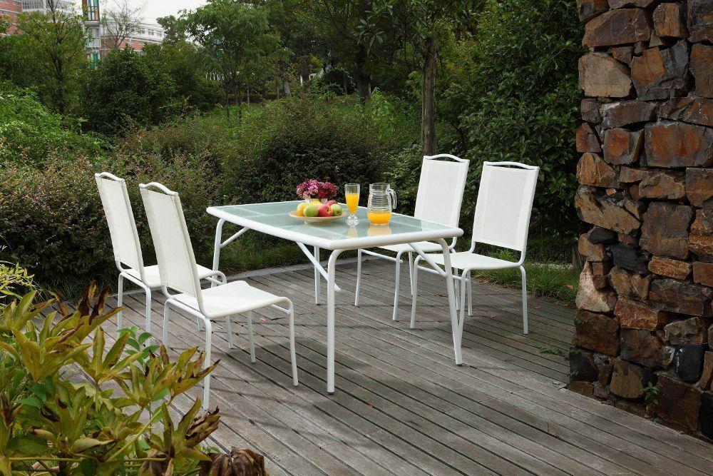 Jardin table chaises r sine repas ext rieur - Table de jardinage en hauteur ...