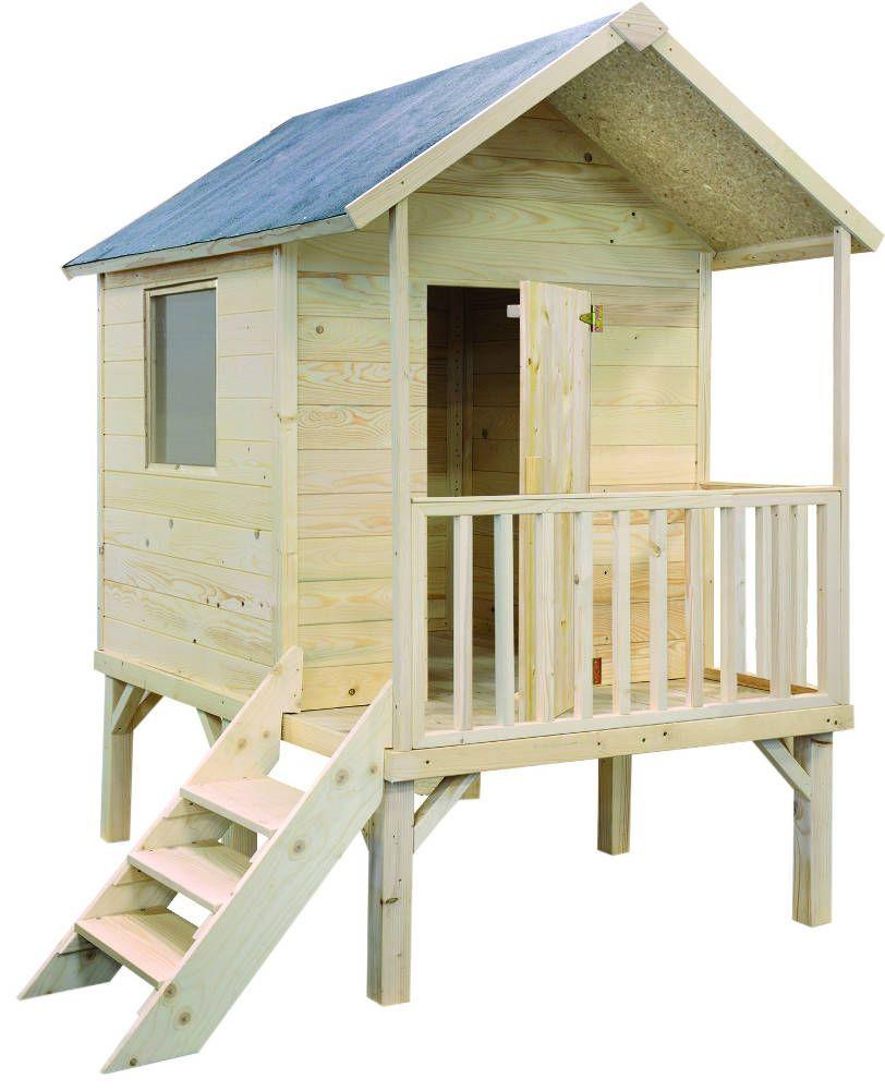 Maisonnette Kangourou + en Sapin Epic�a brut 187x181x200cm