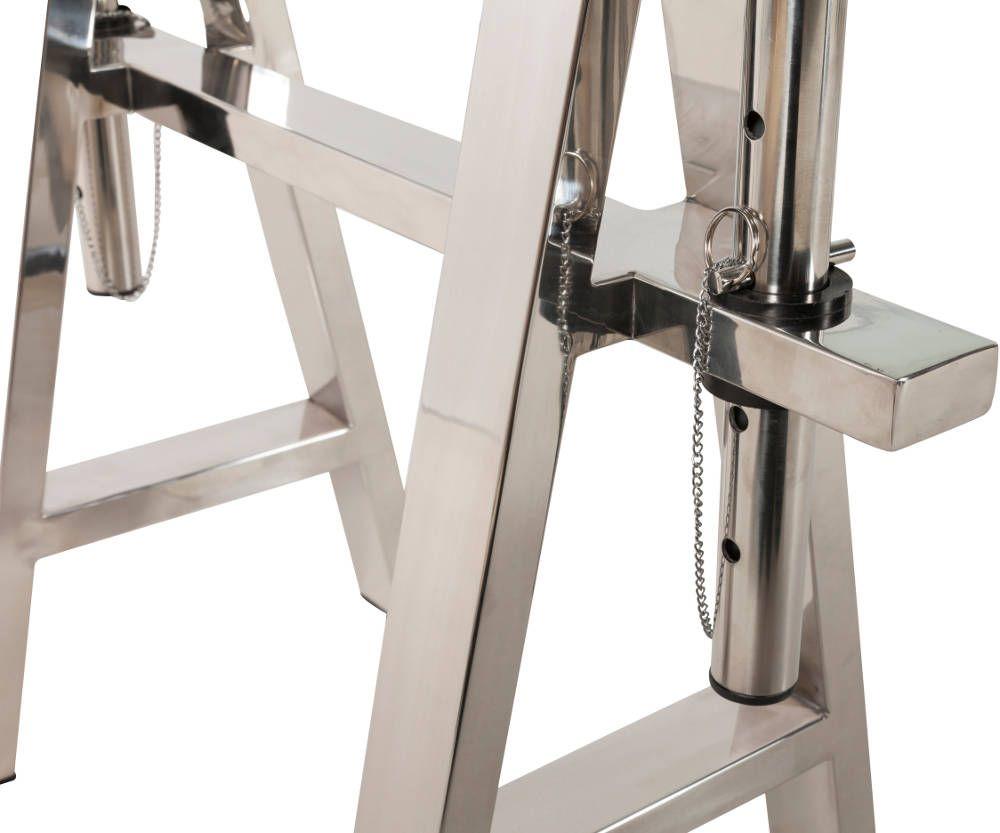Bureau atelier r glage en acier et verre eur - Bureau acier et verre ...